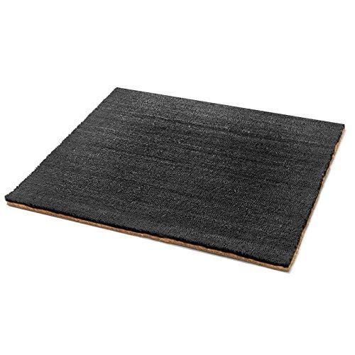 Kokosmatte | schwarz | drei Höhen und Größen (17mm, 40x60cm)