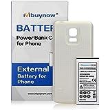 Mbuynow 6500mAh Li-ion Batería de Reemplazo Extendida de Gran Capacidad para Samsung Galaxy S5 mini/G870/SM-G800 con Cubierta Trasera Blanca