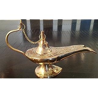 Aladdin The Genie Oil lamps - Brass Genie Aladdin Lamp 5 by AVS STORE Ã'®