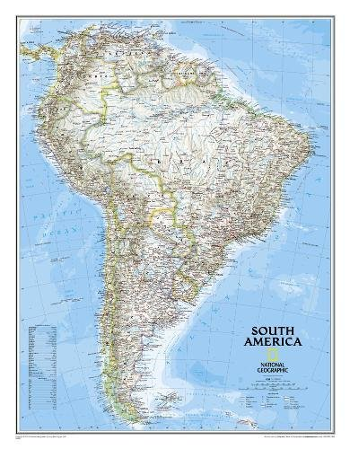 South America Classic, enlarged &, tubed : Wall Maps Continents: NG.PC620074 (Reference - Continents)