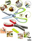 #4: HPK Super Multi Exceptional Scissors Set for Home Garden Kitchen & Office Use