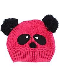 ESHOO Bébé Enfant Bonnet Tricot Chapeau Mignon Panda Chaude Chapeau Hiver 020a395cf75