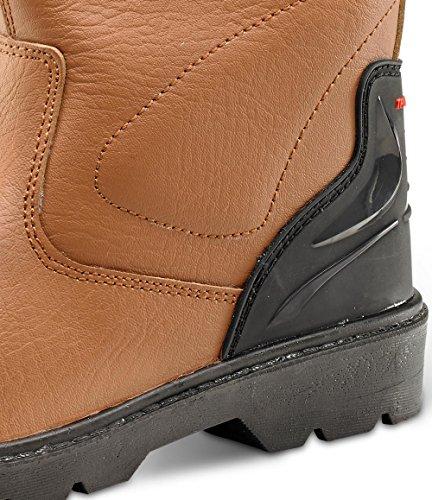 B di Click Scarpe Premium Rigger sicurezza Stivali Tan Tan