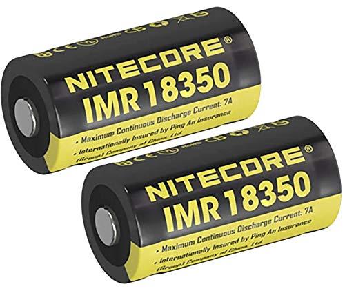 Nitecore Li-Ion-Akku IMR 18350, 700mAh inkl. Remize® Aufbewahrungsbox (2 x 18350)