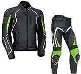 Traje de piel para motorista Kawasaki Ninja, traje para carreras confeccionado con blindado CE, cualquier color y talla