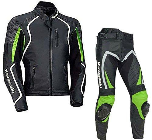Traje de piel para motorista Kawasaki Ninja, traje para carreras confeccionado con...