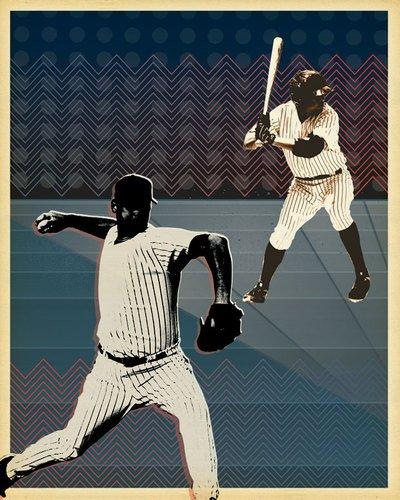 Kleister Art Collective Favorite Zeitvertreib by Paste Face Leinwand Wall Art, 18by 24 (Stück 5 Baseball-spieler)