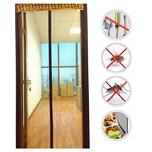 Nclon Magnet fliegengitter Tür Klebemontage,Fliegenvorhang moskitonetz magnetvorhang Zum insektenschutz Automatisches Schließen Punch-Frei-B 80x230cm(31x90inch)