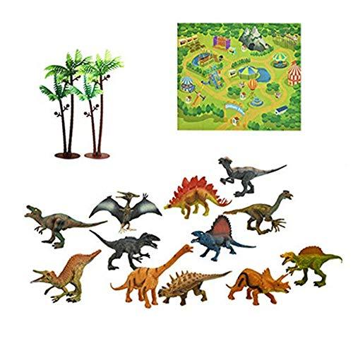 Lukame✯ Aktivität Spielen Teppichbäume Pädagogisches Realistisches Dinosaurier-Weltweihnachtsgeschenkspielzeug
