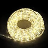Etime LED Lichtschlauch Lichterkette Warmweiss Lichterschlauch Lichterkette Set Innen- und Außenbereich Warmweiß Bunt Kaltweiss (20M Warmweiß)