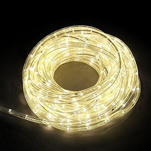 Etime LED Lichtschlauch 20M Lichterkette Warmweiss Lichterschlauch Lichterkette Set Innen- und Außenbereich Warmweiß(20M Warmweiss)