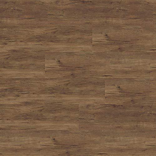 1 m² Vinylboden zum kleben, Vinylklebefliesen, Boden zum verkleben, Vinylboden direkt auf Untergrund kleben, Klebefliesen Vinyl, Vinylboden dunkel, Vinylboden gekalkt - Kastanie rustikal -