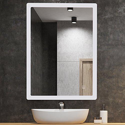 Kleankin Aluminium Led Illuminated Bathroom Mirror Wall Mounted Ip44 Touch Switch 800 X 600 Mm Silver Buy Online In Bahamas At Bahamas Desertcart Com Productid 69962714