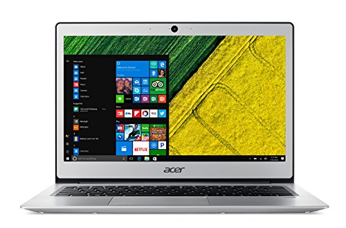 Acer Swift 1 SF113-31-P2XA Notebook, Display 13' FHD IPS LED, Processore Intel Pentium Quad Core N4200, RAM 4GB DDR3, SSD 128GB, Argento