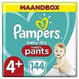 Pamper Baby-Dry Pants maat 4+(9-15kg), 144 luierbroekjes