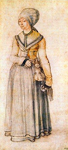 Das Museum Outlet–Frau in House Kleid von Dürer–Leinwand (61x 45,7cm)