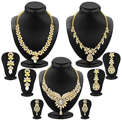 Sukkhi Jewellery Sets for Women (Golden) (413CB1900)