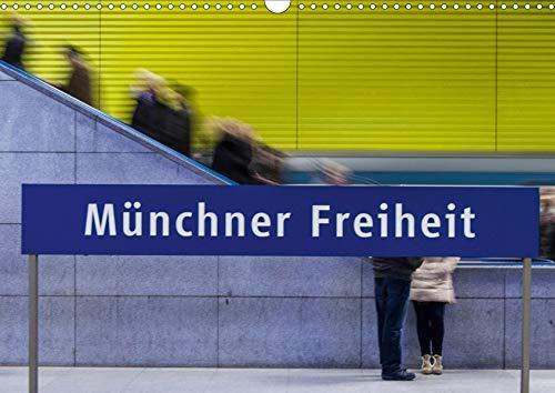 U-Bahn in München (Wandkalender 2020 DIN A3 quer): U-Bahnhöfe strahlen eine Faszination aus, vor Allem wenn alle anders gestaltet sind. (Monatskalender, 14 Seiten ) (CALVENDO Orte)