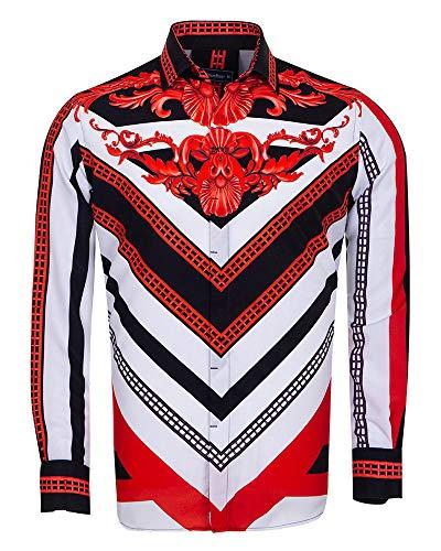 adebfc4982cf Oscar Banks SL 6678 - Camisa de Adorno Vintage Blanco Blanco M