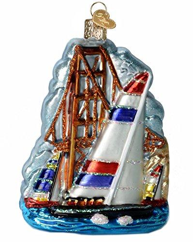Old World Weihnachten San Francisco Segeln Szene Glas geblasen Ornament