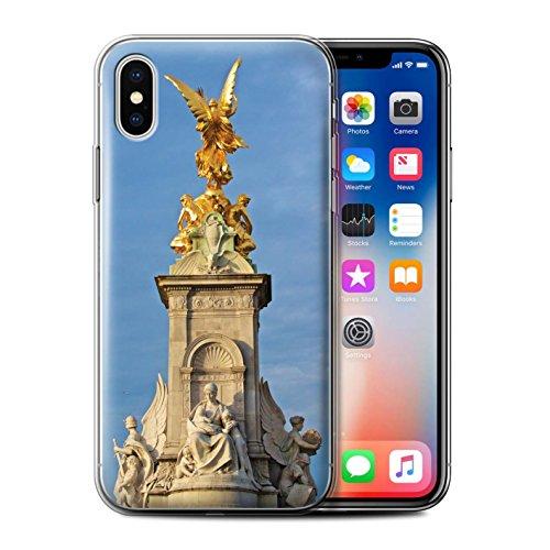 Stuff4 Gel TPU Hülle / Case für Apple iPhone X/10 / City of London Muster / Seiten London Kollektion Victoria-Denkmal