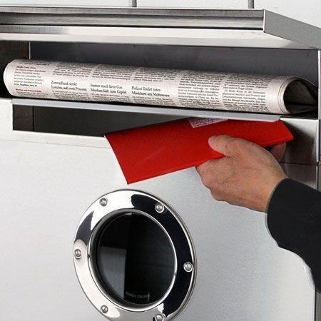 Radius Briefkasten Edelstahl Letterman XXL mit verdecktem Zeitungsfach – 550 - 4