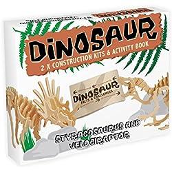 Model Styracosaurus i Velociraptor