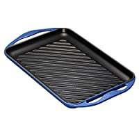 Le Creuset Cast Iron Rectangular Grill - Marseille Blue