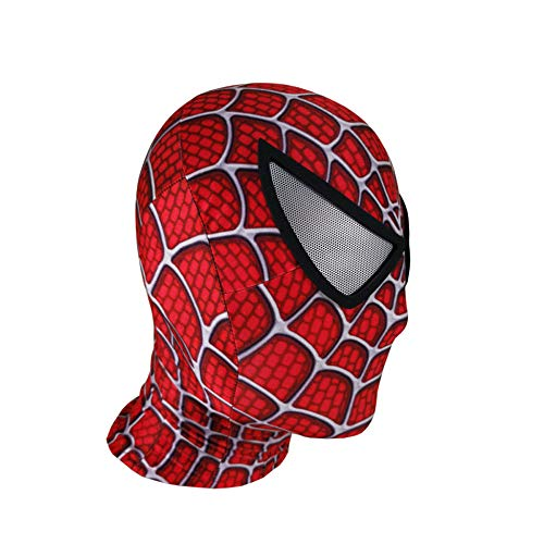 YIWANGO Erwachsene Spider-Man Kopfbedeckung Maske Maskerade Superheld Set Halloween Party Film Requisiten Cosplay Maske,A