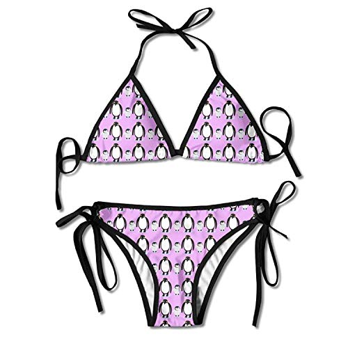 93cbe47808 ZMYGH Women's Tiled Design of Penguin Family Dad and Kid Sexy Bikini  Swimsuit Bathing Suits