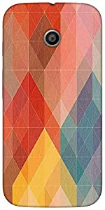 Snoogg Geometic Formations Colourful Designer Protective Back Case Cover For ...