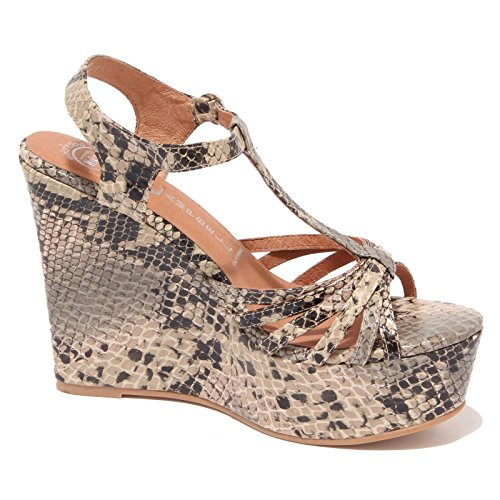 6822O sandalo JEFFREY CAMPBELL SWANSONG beige nero scarpe donna shoe woman Beige/Nero