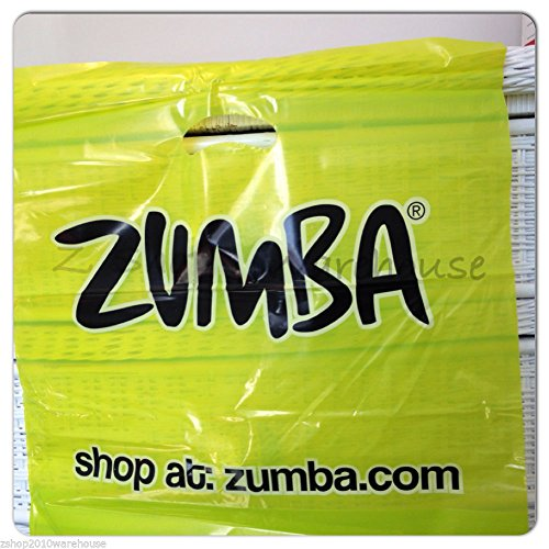 Zumba Fitness Plastic Shopping Bag Lime Punch - 50-pack
