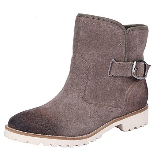 LiKing 01-013 Damen Cowboy Boots Echt Leder Hellgrau-L113