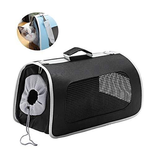 LiRongPing Portable Pet Carrier, Kiste Für Hunde Oder Katzen, Sicherheits-Kordelzug, Ideal Für Reisen, Indoor Und Outdoor (Farbe : Schwarz, größe : L) (Pet Kiste Portable)