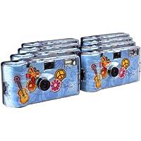 TopShot Flower Power Einwegkamera (27 Fotos, Blitz, 8-er Pack)