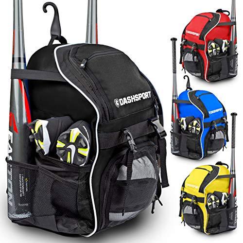 DashSport Baseball-Rucksack - Fledermaus-Set für Jugendliche und Erwachsene, T-Ball- und Softball-Ausrüstungstasche, Jugendschläger-Set, Schwarz -
