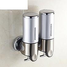 dispenser di sapone doppio/Muro bagno ciondolo in metallo disinfettante per le mani dispositivo-B