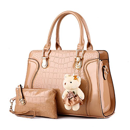 sotica-womens-2-piece-tote-bag-leather-handbag-fashion-shoulder-purse-bags-set-khaki
