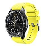 Für Samsung Gear S3 Frontier,Amcool Luxus Sport Einstellbar Bunt Soft Silikon Armband Strap Bands Armbänder (Gelb, Für Samsung Gear S3 Frontier)