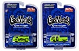 Gas Monkey Garage - Volkswagen SET Bus + T2 Double Cab Doppelkabine - Greenlight 1:64