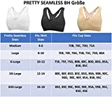 Pretty Seamless Europe New 3-Pack Seamless Wireless Butterfly Lace Racerback Comfort Bra with Removable Pads, by (XXXL, Schwarz, Weiß, Hautfarbe)   XXX-Large,  Schwarz, Weiß, Hautfarbe