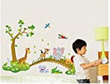 Asmi Collections Wall Stickers Tree Anim...