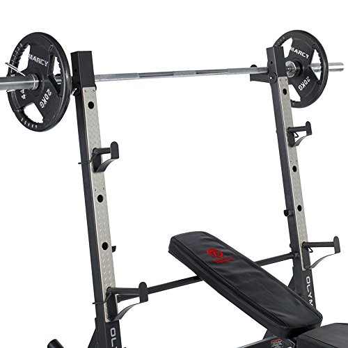 Marcy-Diamond-Elite-Olympic-Weight-Bench-with-Squat-Rack