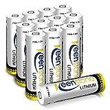 12 PCS AA Lithium Batterien 1.5V 2900mAh Batterien, Nicht Wiederaufladba (12St.)