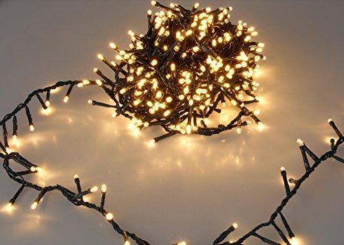 LED Lichterkette – EXTRA warmweiß – mit Speicherchip und 8 Funktionen – für den Innen- und Außenbereich