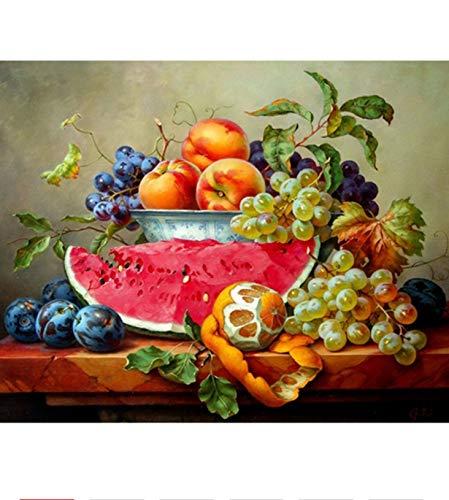 Lkrou DIY 5D Süße Früchte Diamant malerei kreuzstich Handwerk wandmalerei Diamant Stickerei mosaik kit Wohnkultur Handgemachte 40x50 cm - Verbotene Süße Früchte