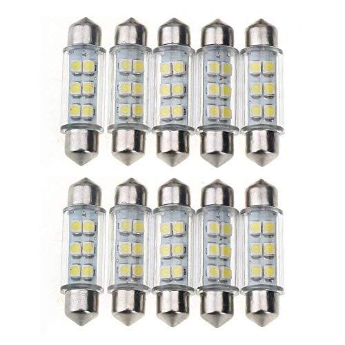 NiceButy 10 Stück 39 mm Super White Energieeinsparung 6-SMD 12 V LED-Panel Innenraumbeleuchtung Auto Leselampe Deckenleuchten Deckenleuchten Gute Ambiente