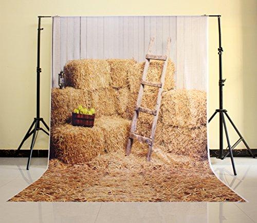 NIVIUS PHOTO 150*220CM Haystack Rock und Holz-Stall Fotografie Newborn Kulisse Hintergrund neugeborene Tapete Boden D-6160