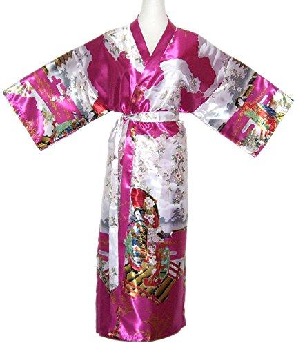 Kimono per la donna vestaglia accappatoio elegante lungo Blue - Turquoise